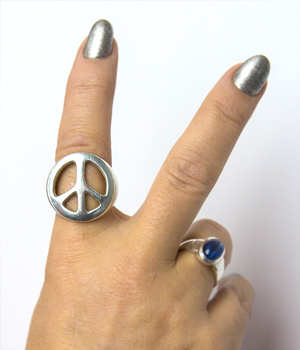 peace ring close up